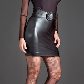19 Inch Look of Leather Skirt