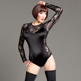 Satin Teddy with Lace Accents
